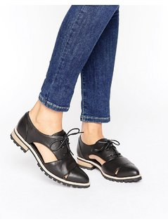 ALDO Lace Up Flat Shoes - Black