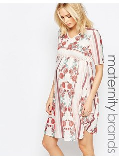 Bluebelle Maternity Floral Print Skater Dress - Multi