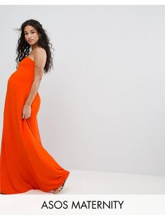 ASOS Maternity Beach Bandeau Maxi Dress - Red