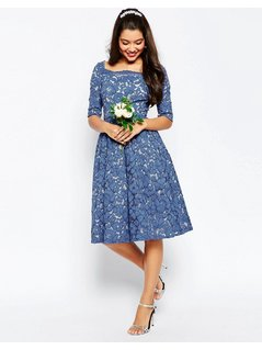 ASOS WEDDING lace Prom Dress - Blue