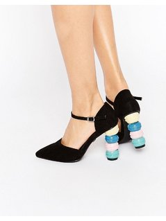 Daisy Street Macaroon Point Heeled Shoes - Multi