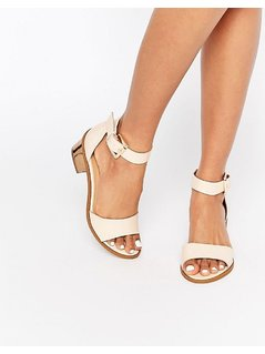 Truffle Collection Honor Mid Heeled Sandals - Beige