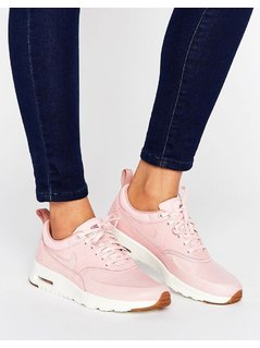 Nike Air Max Thea Basket Weave Trainers In Pink - Pink