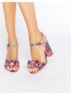 ASOS HOLBORN Bow Heeled Sandals - Multi