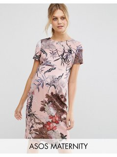 ASOS Maternity T-Shirt Bodycon Dress in Pretty Floral Print - Multi