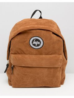 Hype Suede Backpack - Brown