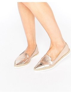 ASOS JUNEY Pointy Espadrilles - Gold