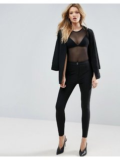 ASOS Trousers in Skinny Fit with Seam Detail - Black