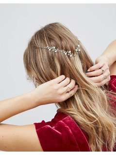 Limited Edition Pretty Posy Back Hair Crown - Gold