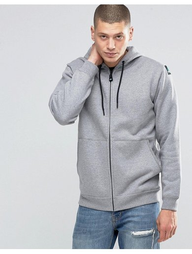 adidas Originals EQT Zip Hoodie In Grey AY9229 - Grey