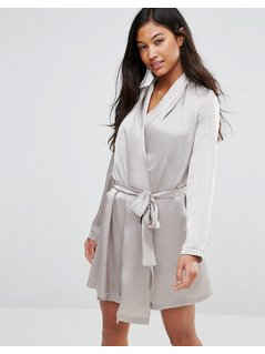 Vero Moda Satin Nightgown - Grey