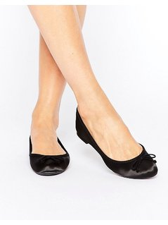 New Look Satin Ballet Pump - Black