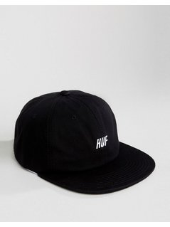 HUF 6 Panel Cap Slant Logo - Black