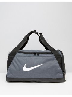 Nike Small Brasilia Holdall Bag In Grey BA5335-064 - Grey