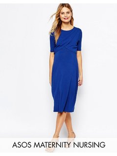 ASOS Maternity NURSING Wrap Dress - Navy
