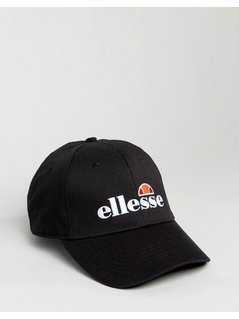 Ellesse Baseball Cap With Embroidered Logo - Black