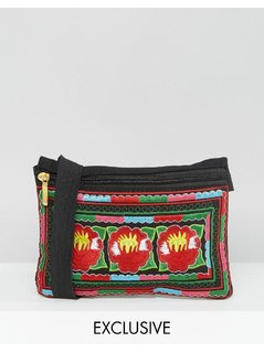 Reclaimed Vintage Embroidered Bumbag - Multi