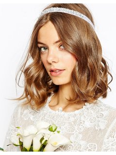 ASOS Bridal Flower&Faux Pearl Headband - Cream