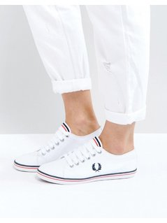 Fred Perry Kingston Twill Trainer - White