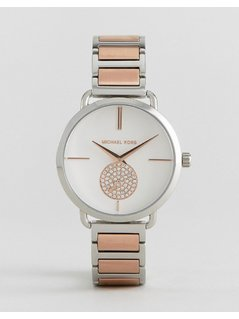 Michael Kors Mixed Metal Portia Watch - Gold