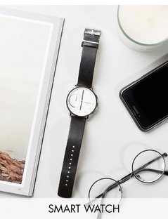 Skagen Hagen Leather Connected Smart Watch In Black SKT1101 - Black