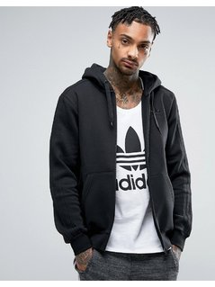 adidas Originals TRF Series Zip-up Hoodie In Black BK5897 - Black