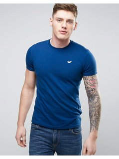 Hollister Must Have Logo T-Shirt Slim Fit in Navy - Navy