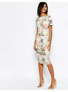 ASOS Occasion Floral Wiggle Dress - Multi
