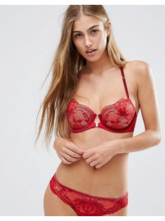 Calvin Klein CK Black Embrace Racerback Push Up Bra - Red