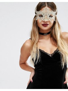 ASOS Fancy Dress Magical Costume Mask - Gold