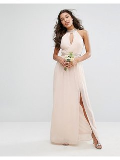 TFNC WEDDING Maxi Dress With Embellishment - Pink