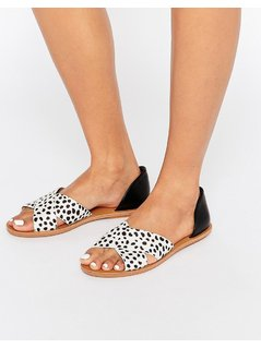London Rebel 2 Part Flat Sandal - Black