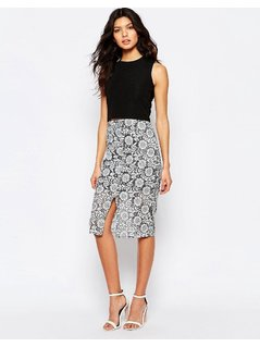River Island Lace Pencil Skirt - Multi