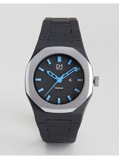 D1 Milano Premium Collection Black and Silver Watch - Black