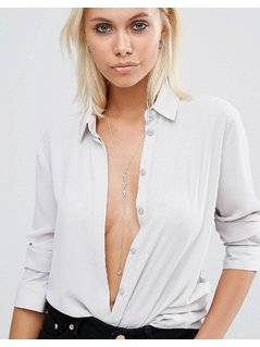ASOS Stone Drop Body Harness - Clear