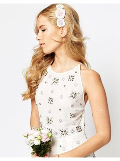 ASOS WEDDING Sequin Flower Haircomb - Multi