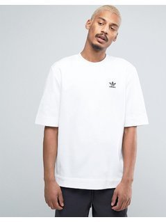 adidas Originals Shadow Tones Jacquard T-Shirt In White CE7114 - White