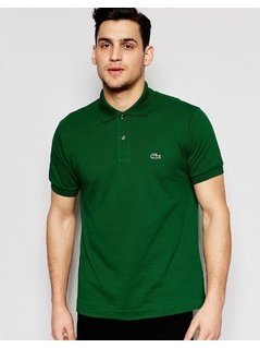 Lacoste Polo Shirt with Croc Logo Regular Fit in Dark Green - Green