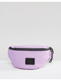 ASOS Bum Bag In Purple With Patch - Purple