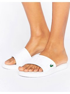 Lacoste Sliders - White