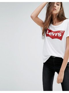 Levi's Perfect T-shirt with Batwing Logo - White