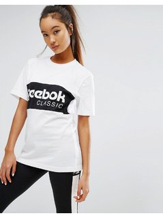 Reebok Classics Oversized T-Shirt With Block Logo - White