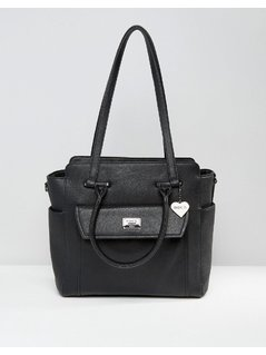 Marc B Structured Winged Shoulder Bag - Black