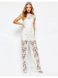 Body Frock Bridal Orchid Jumpsuit - White