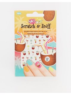 Coconut Scratch&Sniff Nail Stickers - Multi