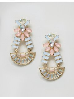 DesignB Mix Stone Statement Earrings - Multi