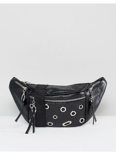 ASOS Eyelet Bum Bag - Black