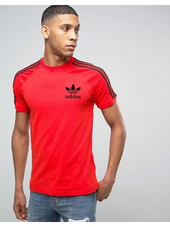 adidas Originals California T-Shirt In Red BK7544 - Red
