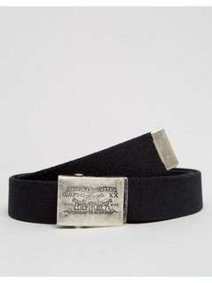 Levi's Webbing Belt with Logo Buckle - Black