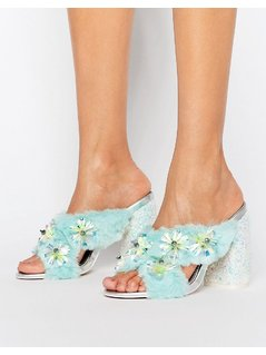 ASOS HEADLINES Embellished High Mules - Multi